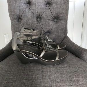 Andrew Geller wedge sandals NWOB